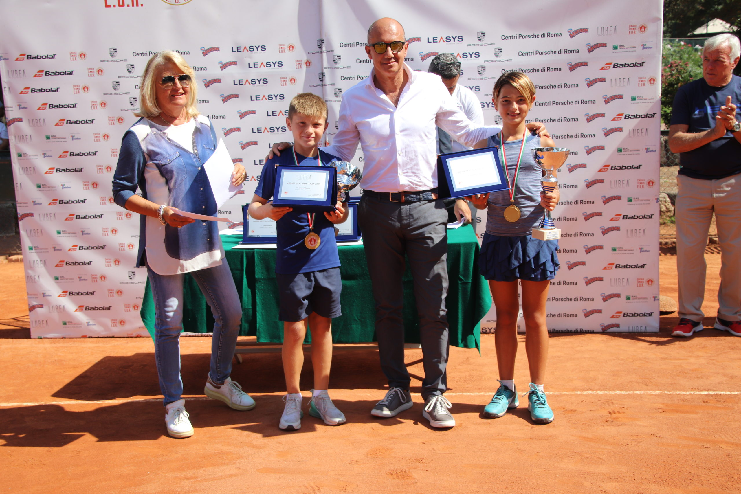 LUBEA delivers the plaques to the Under 10 winners of Junior Next Gen Italia 2019 Competition