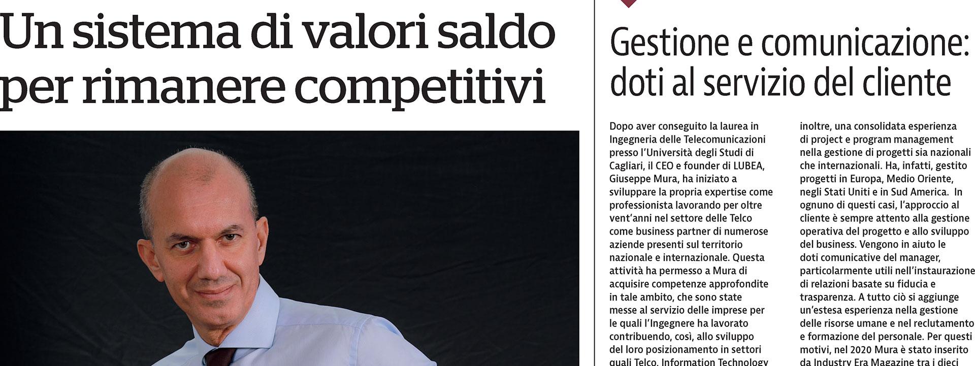 """LUBEA on Newspapers: """"La Repubblica"""" 🚀🎙"""