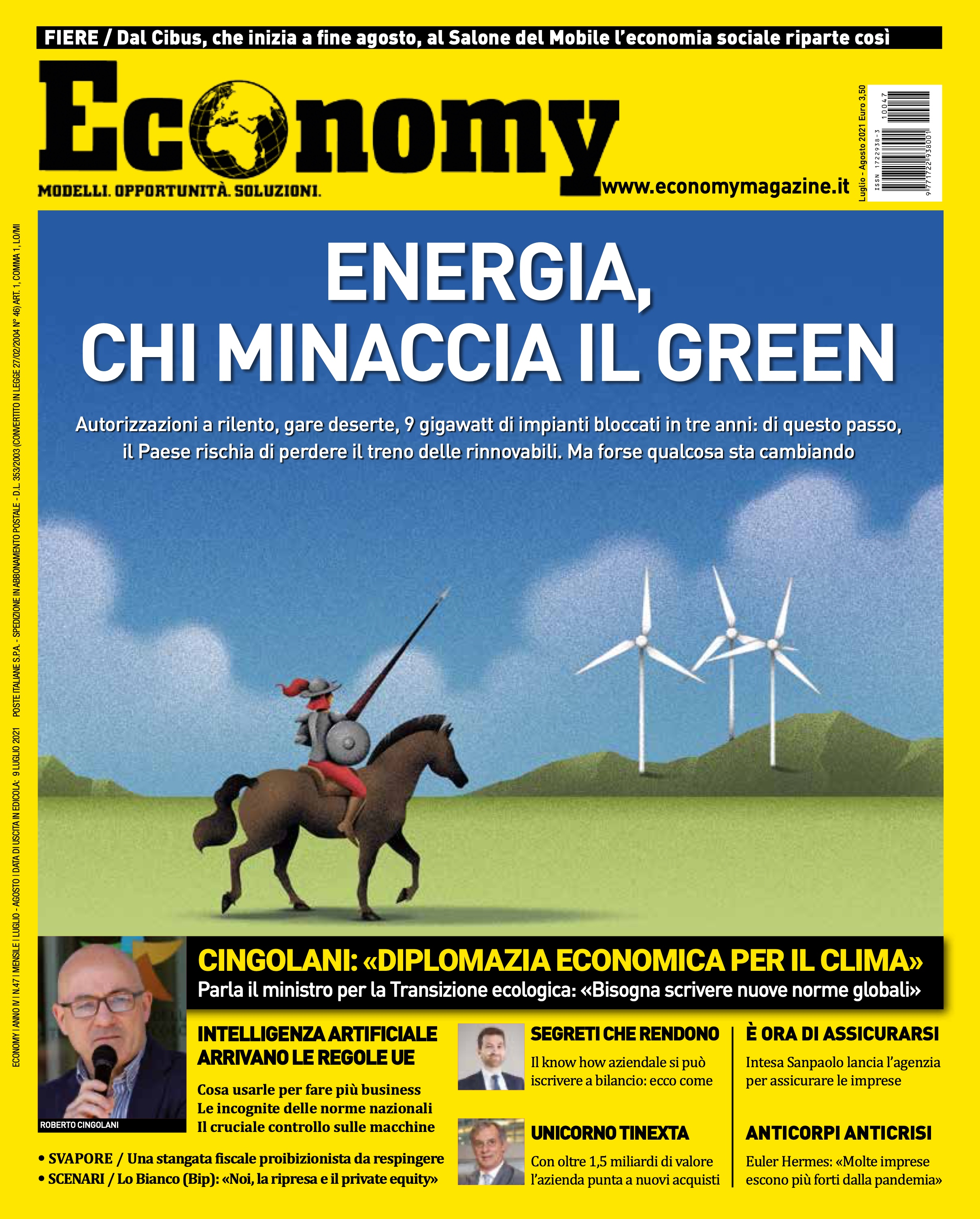 """LUBEA on the Magazine """"Economy"""" in the July/August 2021 issue"""